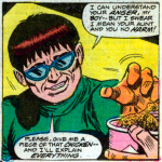 Funny Comic Book Panels: Doctor Octopus Likes Chicken